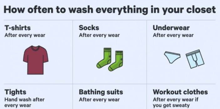 how often to clean clothes
